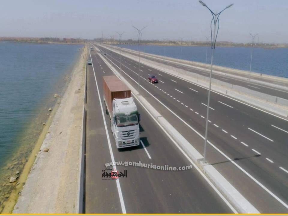 توسعات وتجديدات طريق المحورالتنموي لبرج العرب