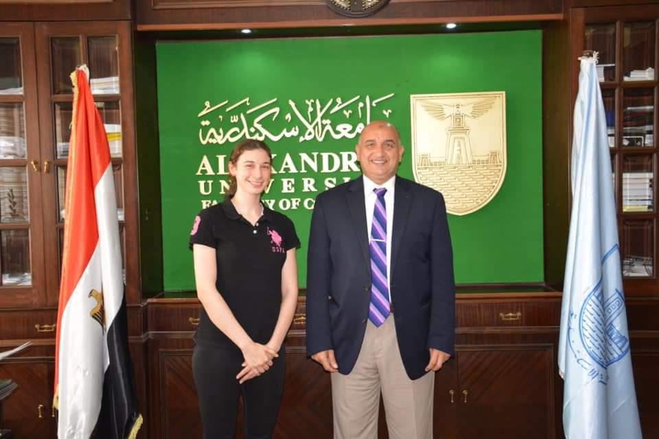جامعة الاسكندرية تهنى ابطالها المؤهلين للمشاركة فى اوليمبياد طوكو