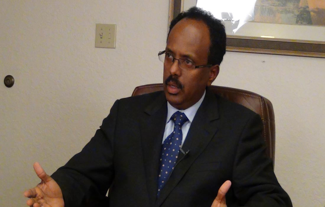 الرئيس الصومالي عبد الله ديني