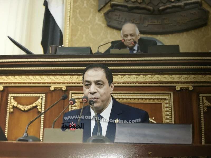 النائب حسنى حافظ عضو مجس النواب ورئيس حزب الوفد بالاسكندرية