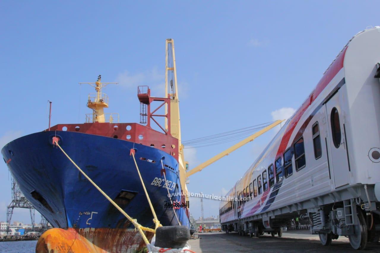 وصول دفعة جديدة من عربات السكة الحديد الجديدة الروسية المجرية لميناء الاسكندرية-
