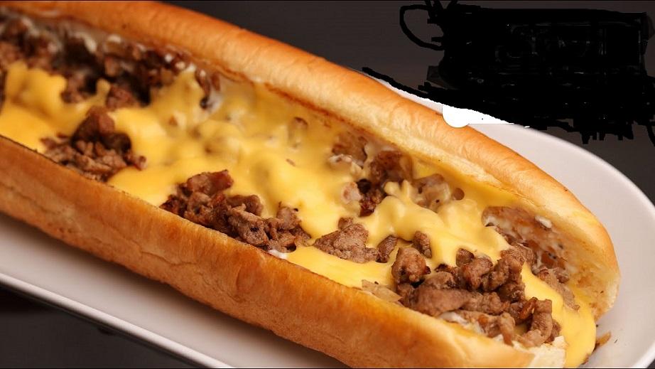 ساندويتش لحم بصوص الجبنه