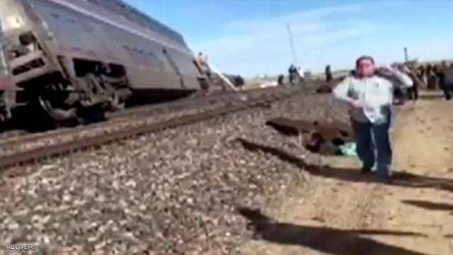 قتلى وجرحى إثر خروج قطار عن مساره في مونتانا الأميركية.. صور