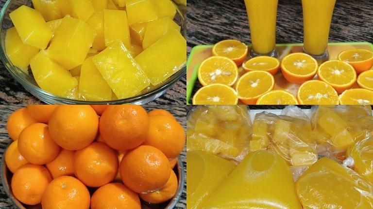 طريقتين لتخزين البرتقال
