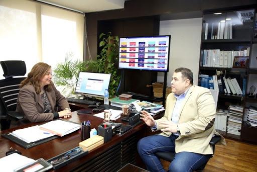 محرر الجمهورية اون لاين مع  مى عبدالحميد،الرئيس التنفيذى لصندوق الإسكان الاجتماعى