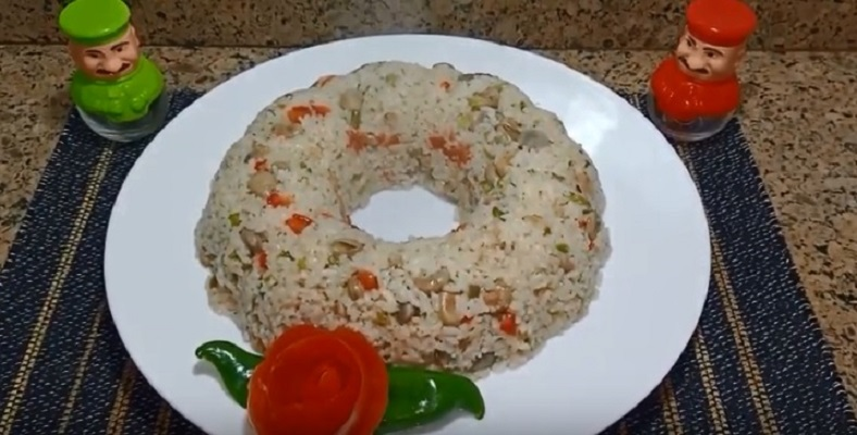 ارز بالفول الاخضر