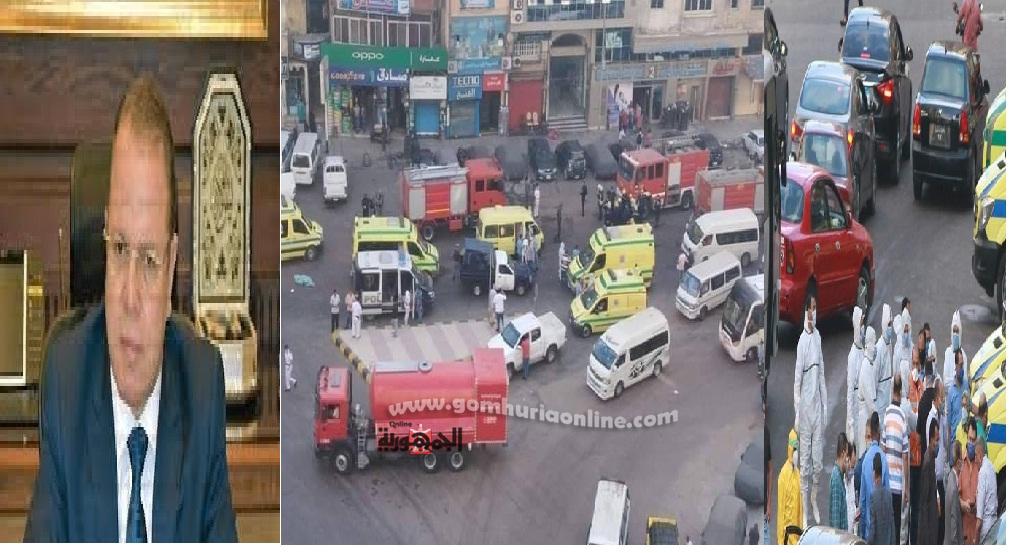 النائب العام يتابع حريق مستشفى بدراوى الذى اسفرعن وفاة سبعة مرضى مصابين بكورونا اختناقا