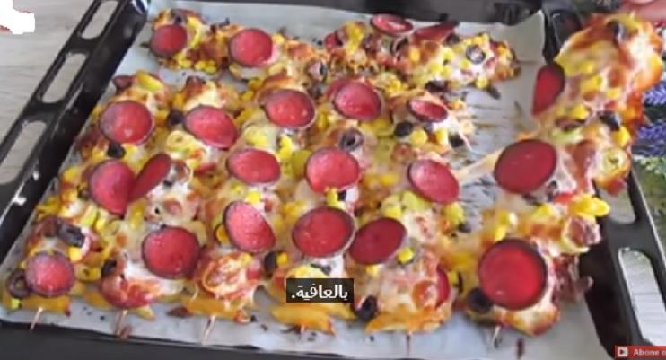 بيتزا شيش المكرونة
