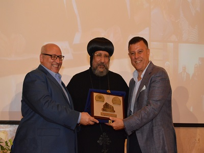 تكريم عبد الوهاب عزت و محمود المتينى بالمركز الثقافي الأرثوذكسي