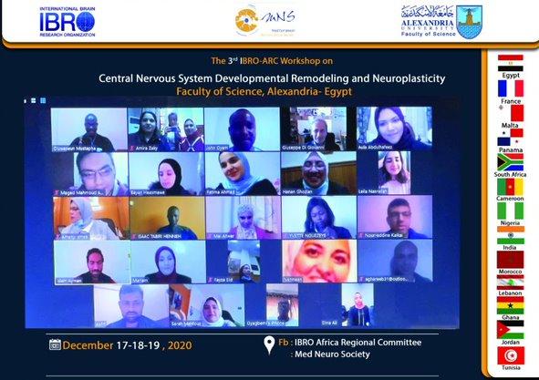 علوم  الاسكندرية تنظم ورةشة العمل الثالثة المدعومة من من المنظمة الدولية لابحاث الدماغ