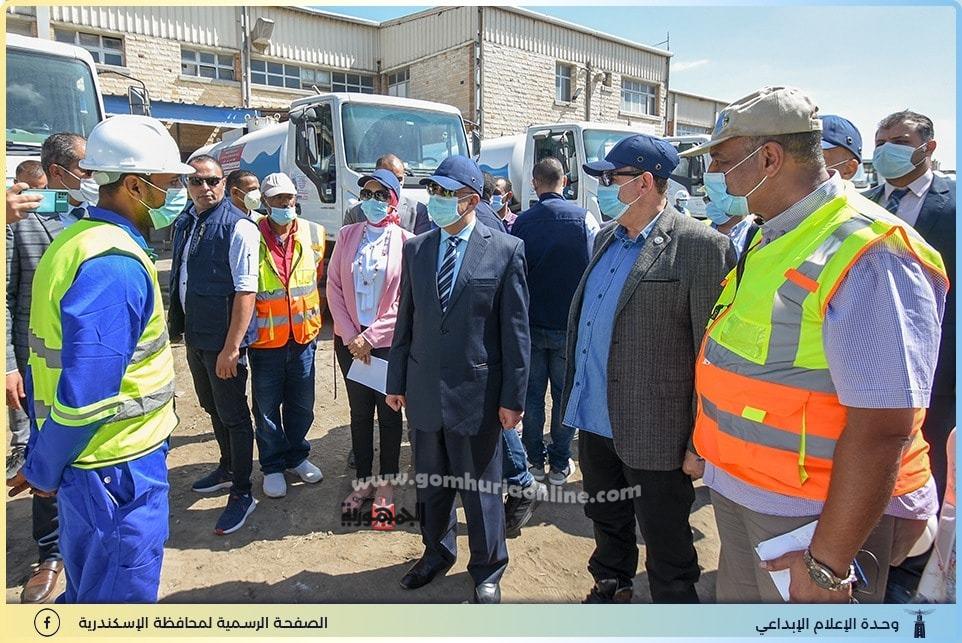 المحافظ ورئيس الصرف الصحى وأستعدادات موسم الشتاء بالإسكندرية