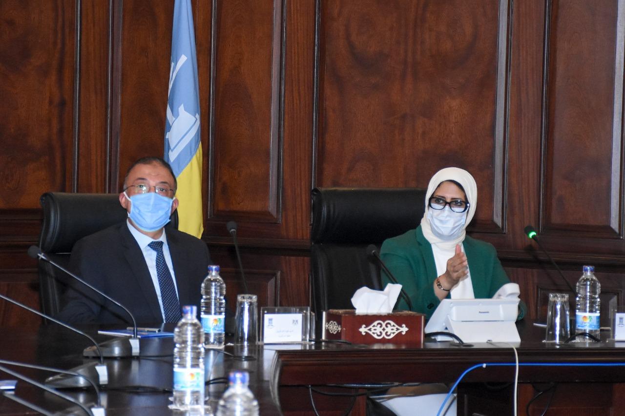 وزيرة الصحة ومحافظ الإسكندرية