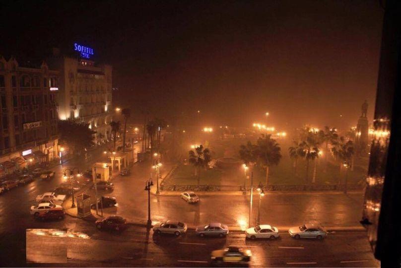 امطاررعدية غزيرة تتساقط على الاسكندرية  تصويرعزت السمرى وواثق حسين