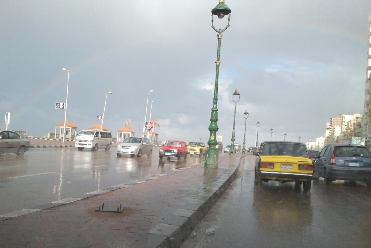 تساقط امطارعلى الاسكندرية