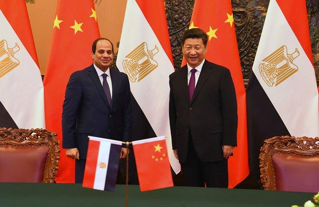 الرئيس السيسي مع نظيره الصيني شي جين بينج